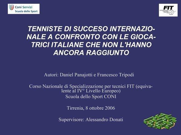 Tenniste di successo internazionale